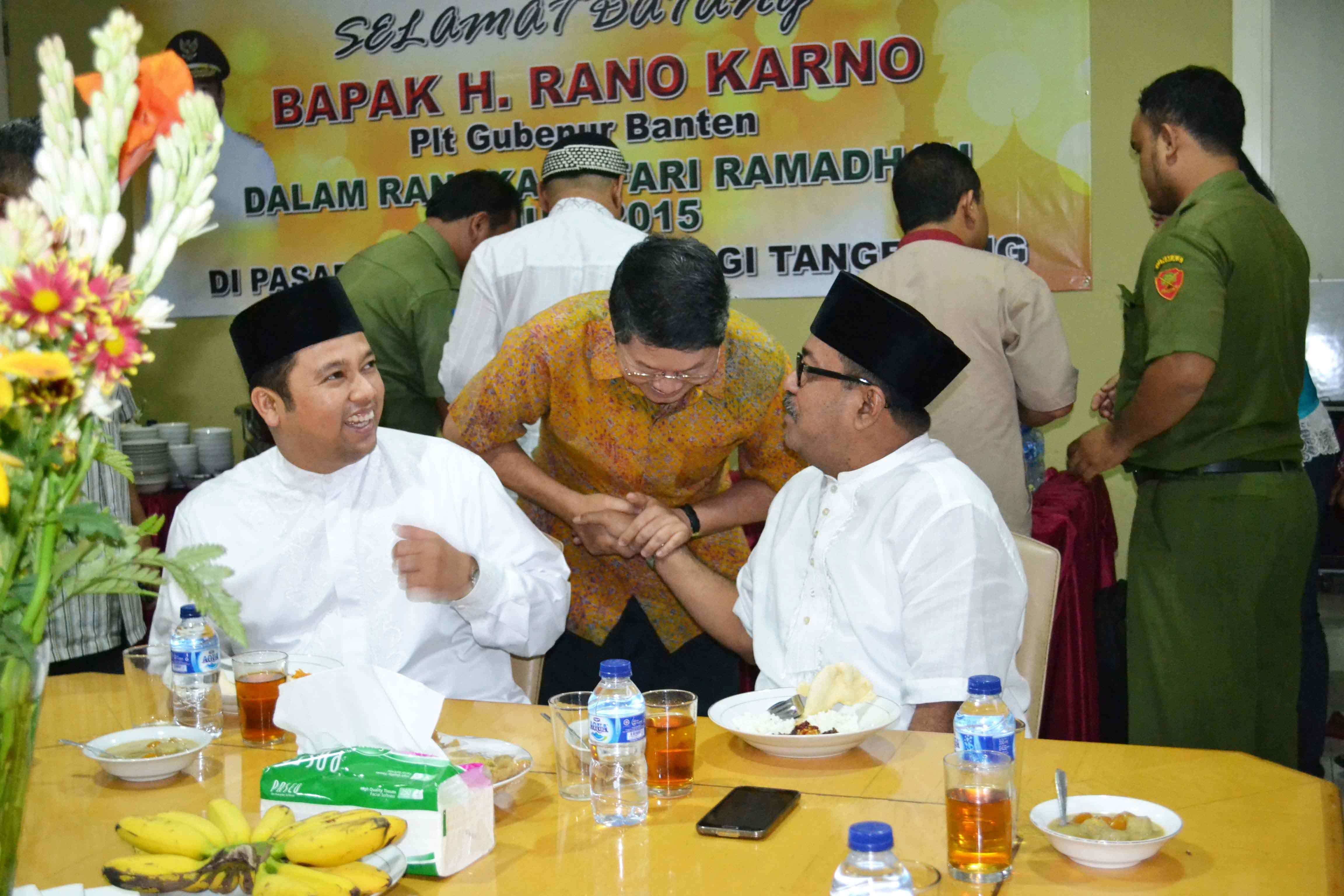 Kunjungan Pejabat Negara,Rano karno ( Wakil Gubernur Tangerang ), dan Arief Rachadiono Wismansyah ( Wakil Wali kota Tangerang ), Pasar Induk Tanah Tinggi